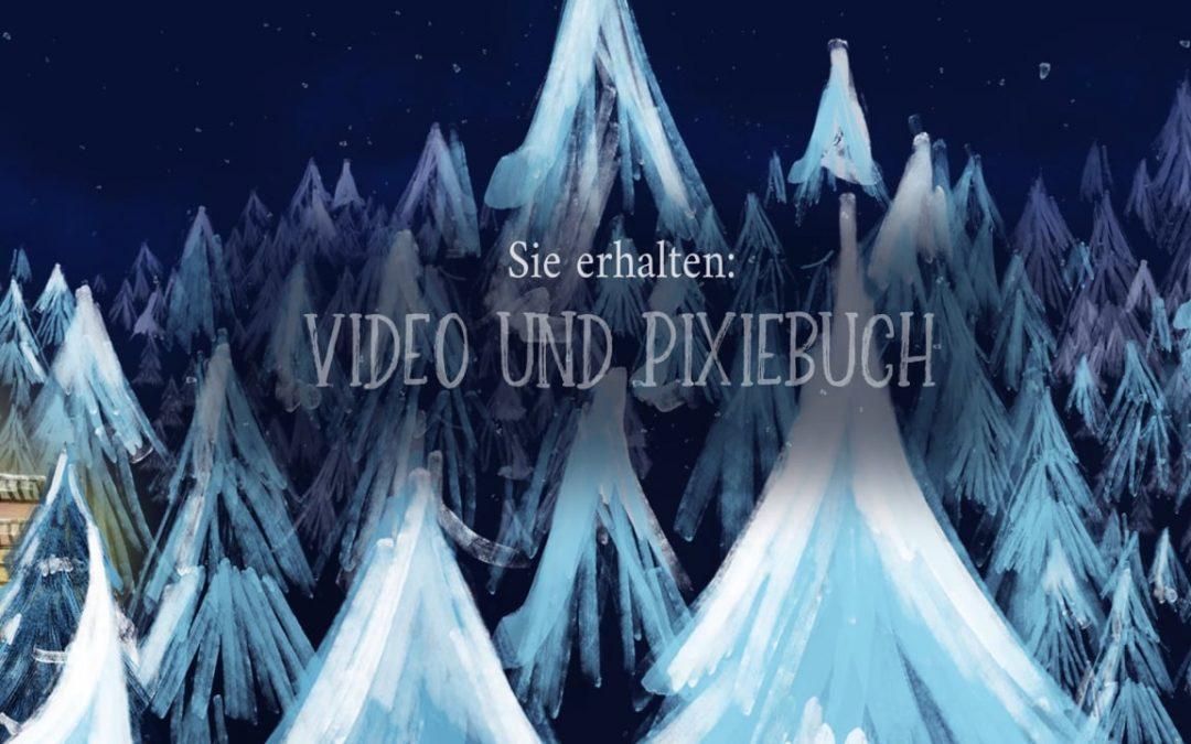 Video+ Pixiebuch: Als der Weihnachtsmann mal versackt ist